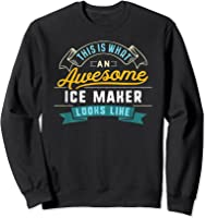 Funny Ice Maker Shirt Awesome Job Occupation Graduation T-shirt Sweatshirt Black