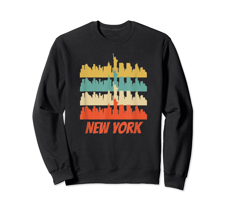 Retro New York City Skyline Pop Art Shirt Crewneck Sweater