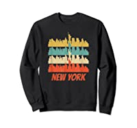 Retro New York City Skyline Pop Art Shirt Sweatshirt Black