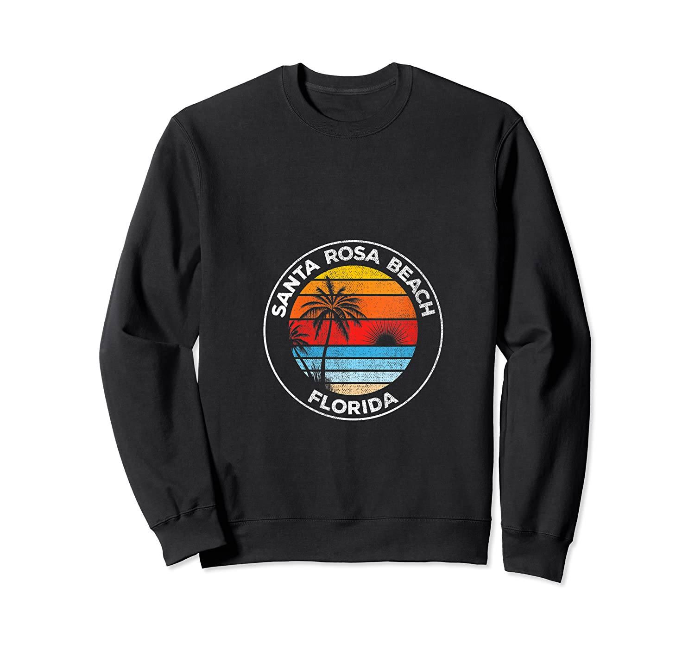 Vintage Santa Rosa Beach Florida Souvenir Beach T-shirt Crewneck Sweater