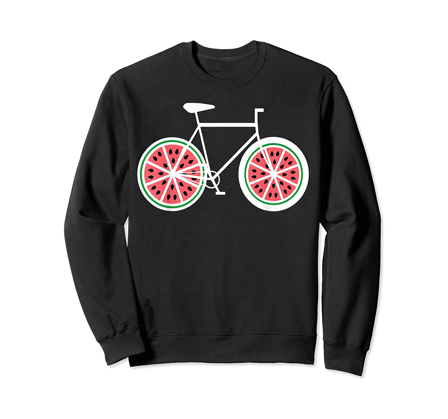 Fixie Single Speed Watermelon Bicycle T Shirt Gift Crewneck Sweater