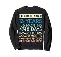 Nager Vintage 13 Years Birthday N Gifts Shirts Sweatshirt Black