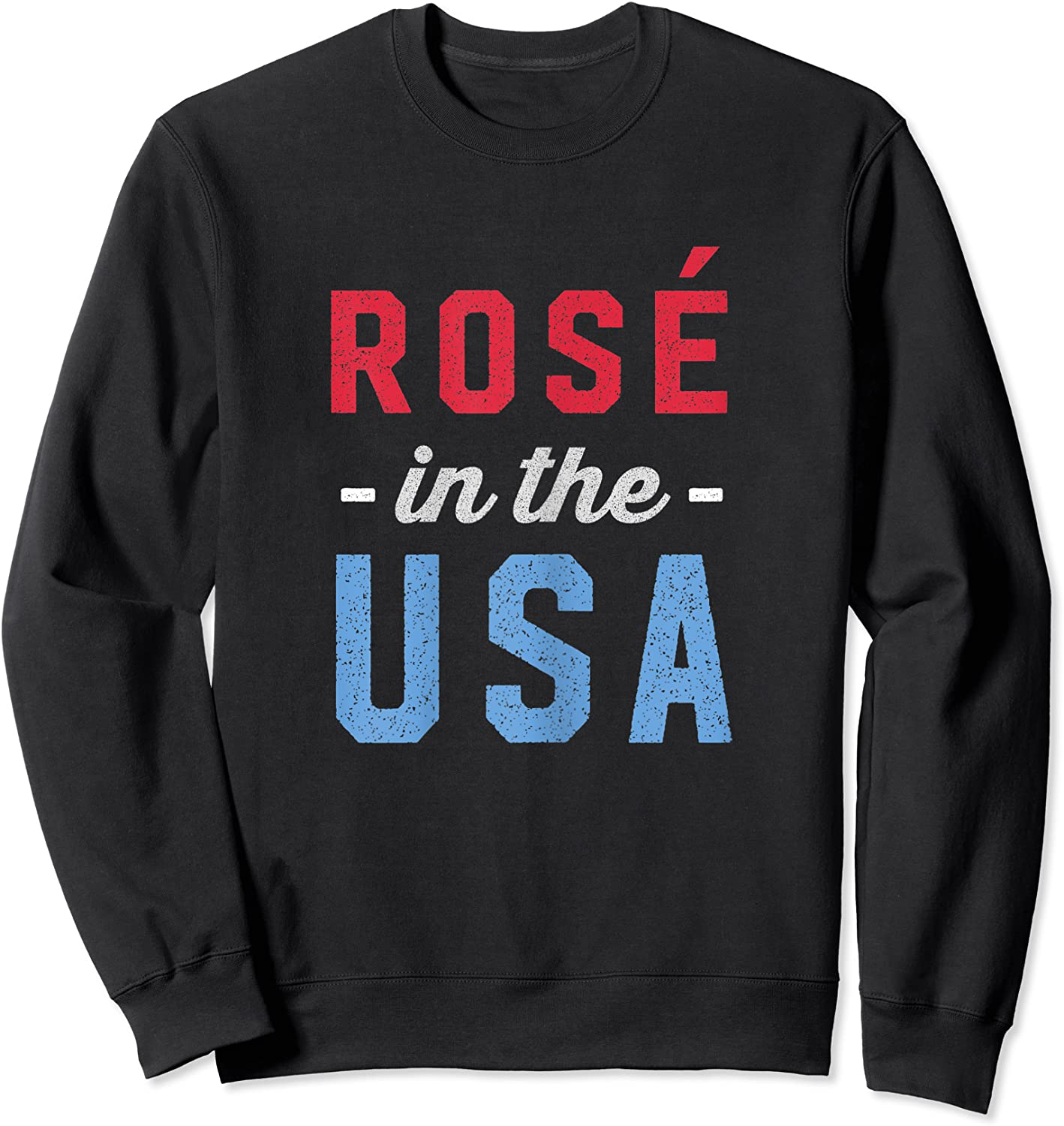 Rose In The Usa Cute 4th Of July T-shirt Crewneck Sweater