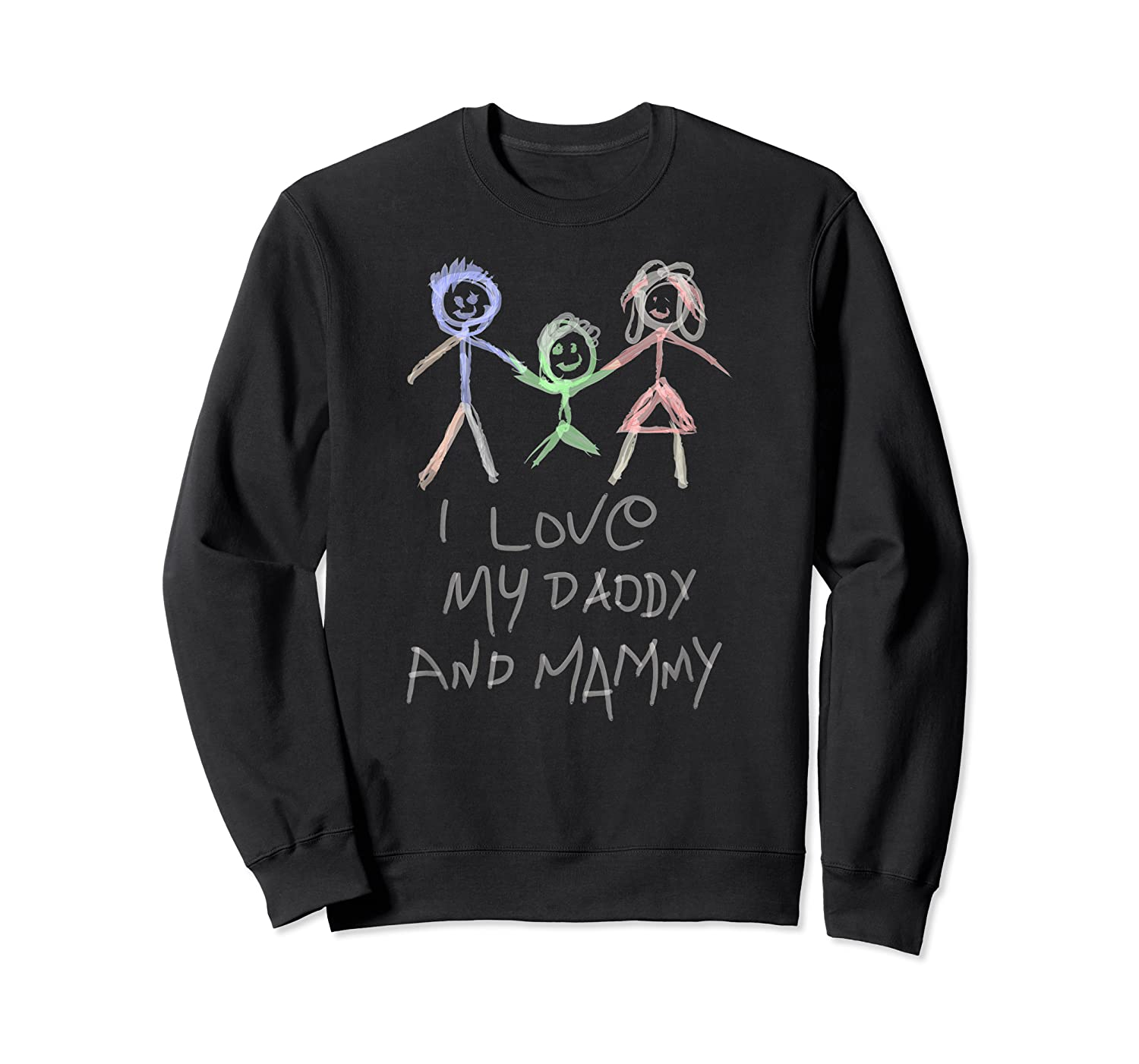 Happy Parents' Day Drawing Funny Shirts Crewneck Sweater
