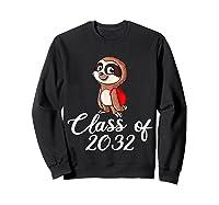 Sloth Class Of 2032 Back To School Gift Shirts Sweatshirt Black