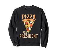Impeach Trump Pizza For President Pizza Lovers T Shirt Sweatshirt Black