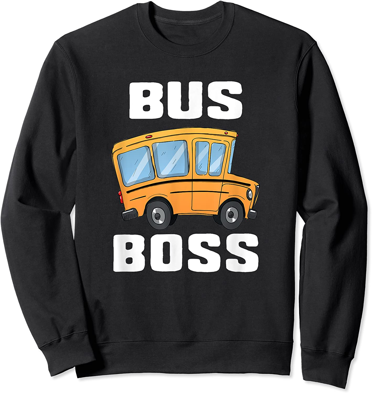 Funny Bus Boss School Bus Driver T-shirt Job Career Gift Crewneck Sweater