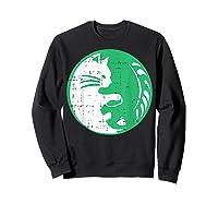 Area 51 Alien Cat Yin Yang Easy Lazy Kitten Halloween Gift Shirts Sweatshirt Black