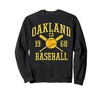 Oakland Baseball Vintage Oak Pride Retro Distressed Gift Shirts Sweatshirt Black