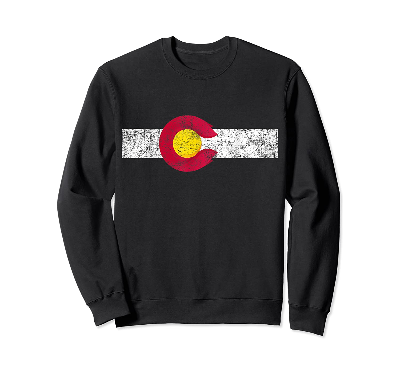 Colorado State Flag Vintage Colorado Day Gift Shirts Crewneck Sweater