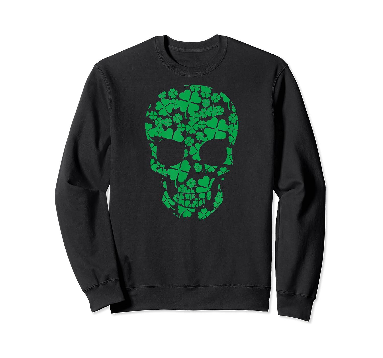 Saint Patrick S Day Shamrocks Skull T Shirt Crewneck Sweater