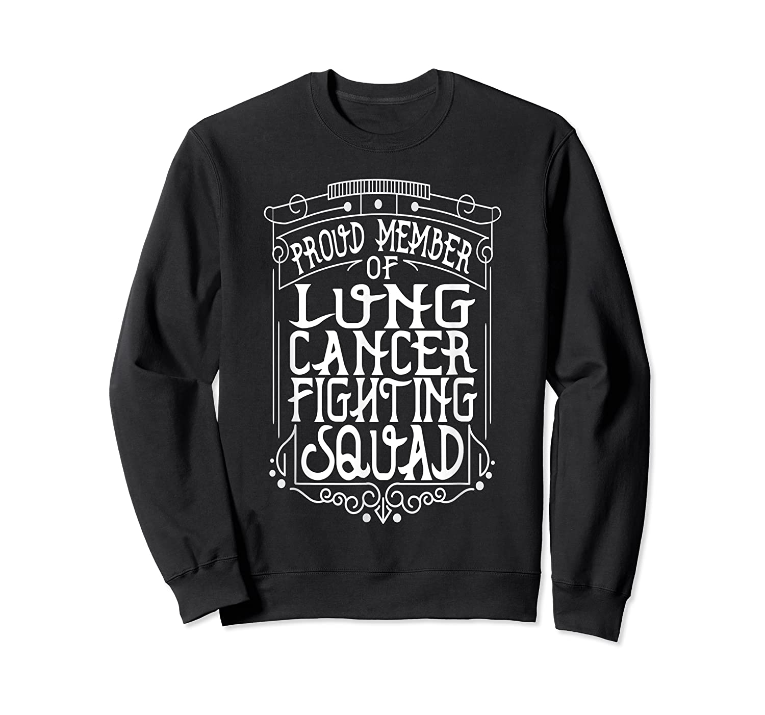 Fighting Squad Lung Cancer Awareness T-shirt Crewneck Sweater