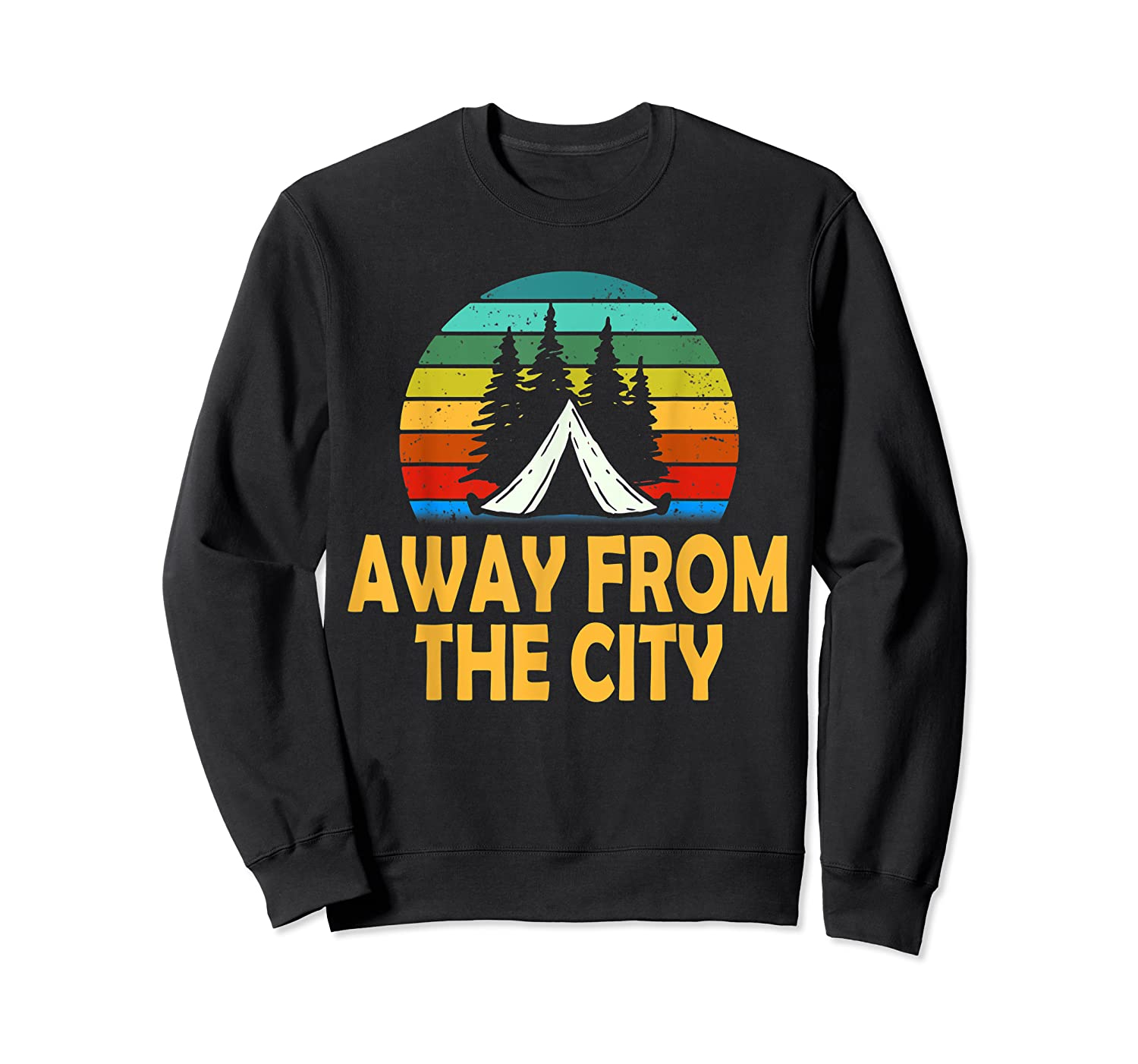 Funny Camping Shirt Away From The City Summer Gift Crewneck Sweater