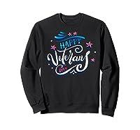 Happy Veteran's Day Patriot Military Memorial Gift Tee Premium T-shirt Sweatshirt Black