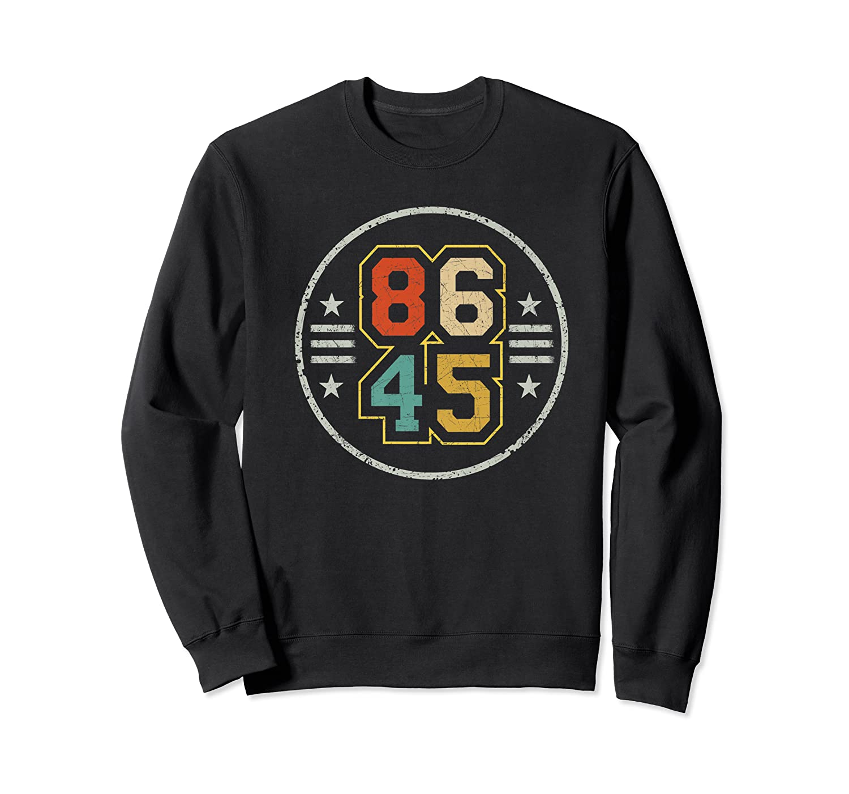 New Vintage Style 86 45 Anti Trump Impeacht T Shirt Crewneck Sweater