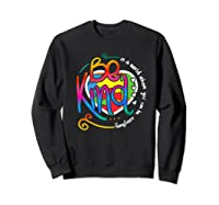 In A World Where You Can Be Anything Be Kind Autism Premium T-shirt Sweatshirt Black