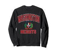 Washington Heights Dominican Flag Shield Varsity Style T Shirt Sweatshirt Black