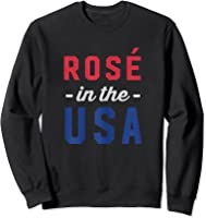 Rose In The Usa Cute 4th Of July T-shirt Sweatshirt Black