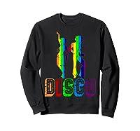 1970s Disco Dancers Vintage Rainbow 1970's Gift Shirts Sweatshirt Black