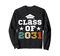 Vintage First Grade 2019 Class Of 2031 Apparel Grow With Me Shirts Sweatshirt Black
