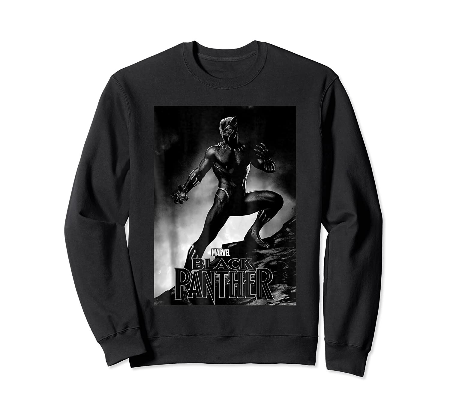 Black Panther Movie Shadow Cliff Stance Shirts Crewneck Sweater