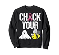 Check Your Boo Bees Shirt Funny Breast Cancer Halloween Gift Sweatshirt Black