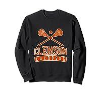 Vintage Clemson Lacrosse Shirts Sweatshirt Black
