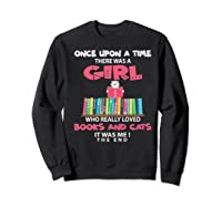 Once Upon A Time There Was A Girl Who Really Loved Books Premium T Shirt Sweatshirt Black