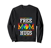 Free Mom Hugs Cute Flower Pride Lgbt Month 2019 Gift Shirts Sweatshirt Black