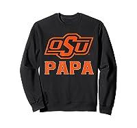 Oklahoma State Cow My Favorite Name - Papa T-shirt Sweatshirt Black