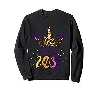 Unicorn Face Class Of 2034 First Day Kindergarten Girls Gift T-shirt Sweatshirt Black