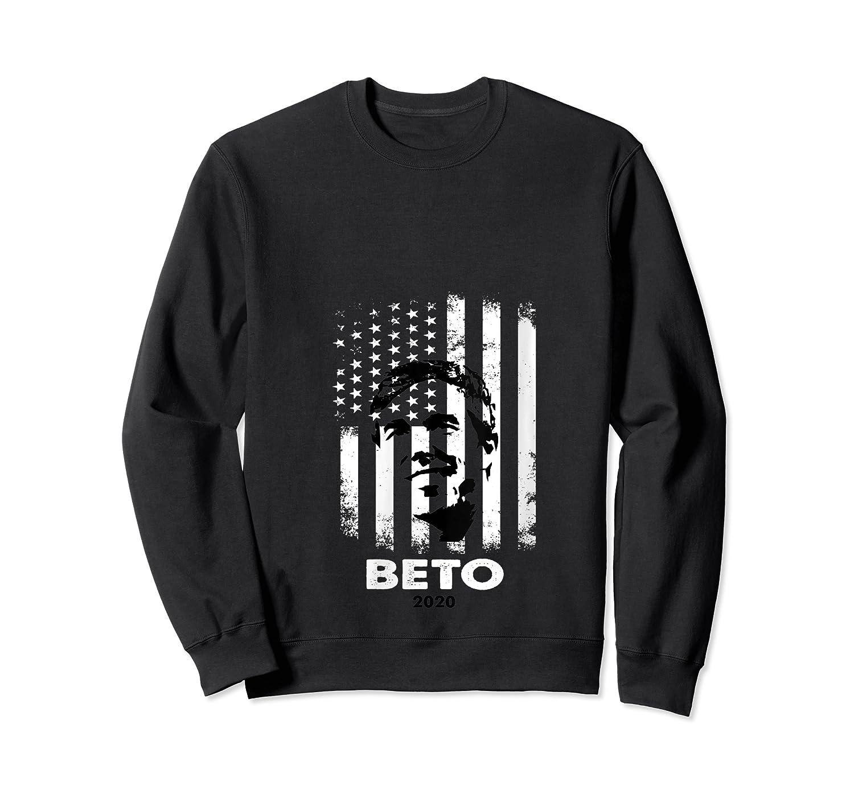 Beto O Rourke American Flag President Usa Distressed Gift T Shirt Crewneck Sweater