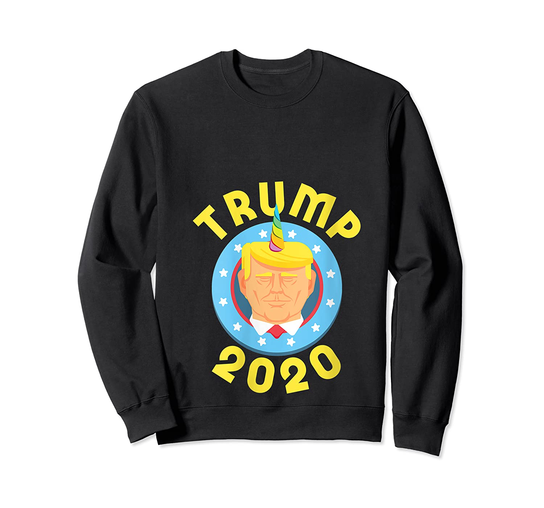 Funny Unicrontrump 2020 Election Usa Flag Republican Gift T Shirt Crewneck Sweater