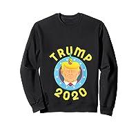 Funny Unicrontrump 2020 Election Usa Flag Republican Gift T Shirt Sweatshirt Black