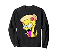 Pepperoni Pizza Monster Gift Shirts Sweatshirt Black