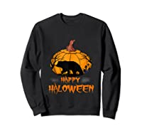 Bear Pumpkin Happy Halloween Costume Shirts Sweatshirt Black