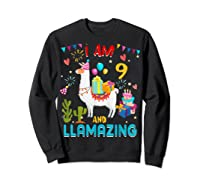 I Am 9 Years Old Zing Cute 9th Birthday Gift T-shirt Sweatshirt Black