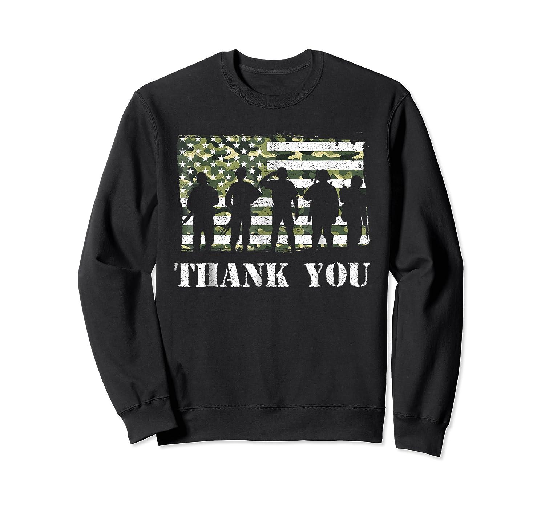 Thank You Veteran Dad Grandpa Veterans Day Gif Shirts Crewneck Sweater