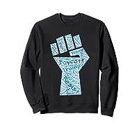 Resist Fist Anti Trump Boycott Impeach Trump T Shirt Sweatshirt Black