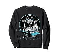 Saint Louis Missouri Route 66 Iconic Gateway Arch Souvenir T-shirt Sweatshirt Black