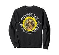 January Girl The Soul Of A Mermaid Tshirt Birthday Gifts Sweatshirt Black
