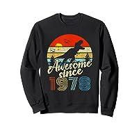 Dinosaur 41st Birthday Gifts Awesome 1978 41 Yrs Old Shirts Sweatshirt Black