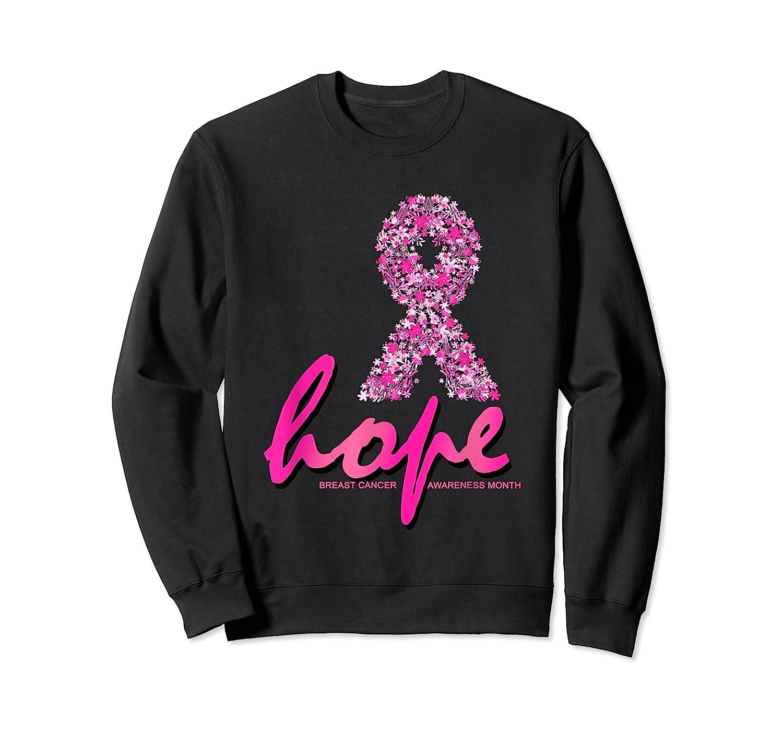 Hope Pink Ribbon Breast Cancer Awareness Month T Shirt Crewneck Sweater