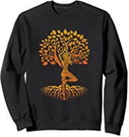 Da Baum Des Lebens With Woman Yoga T-shirt Chakra Haka Yoga T-shirt Sweatshirt Black