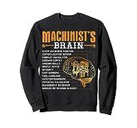 Funny Machinist Gifts Machinist S Brain Shirts Sweatshirt Black