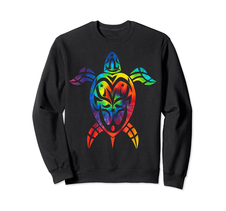 Save Sea Turtles Rainbow Tie Dye Hawaiian Shirts Crewneck Sweater