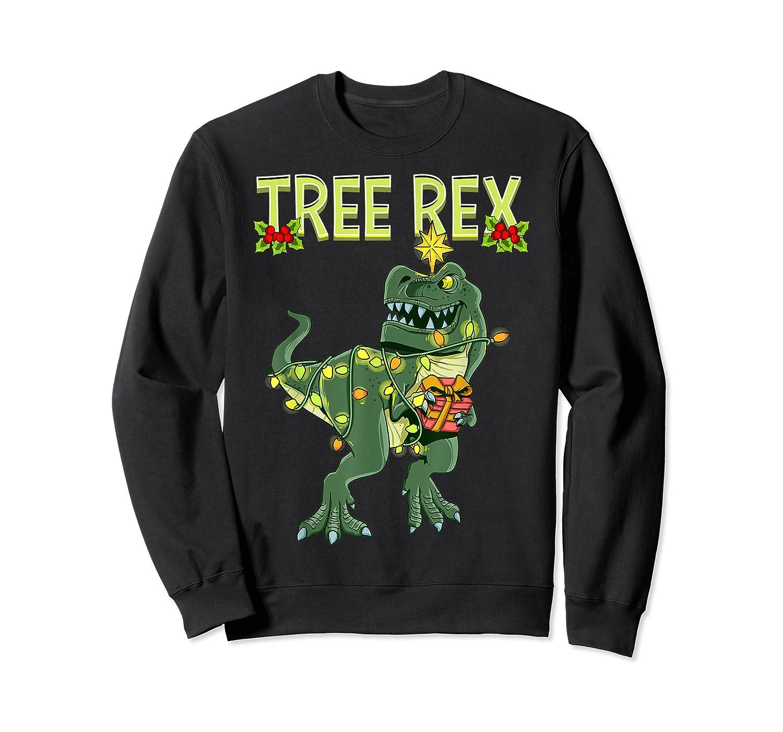 Tree Rex Shirt Christmas T Rex Dinosaur Pajama T-shirt Crewneck Sweater