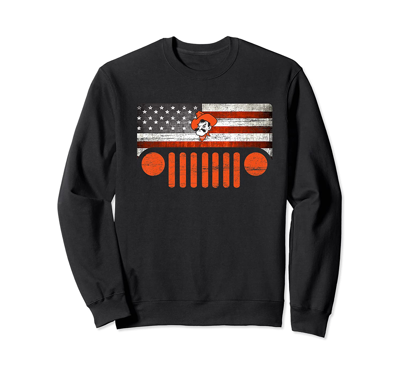 Oklahoma State Cow Nation Flag Apparel Premium T Shirt Crewneck Sweater