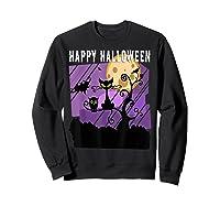 Spoopy Funny Halloween Black Cat Witch Hallow S Eve Joke T Shirt Sweatshirt Black