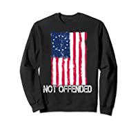 Betsy Ross American Flag Tshirt With 13 Stars For Protesters Sweatshirt Black